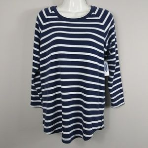 Old Navy Top Women's Size XS Blue and white